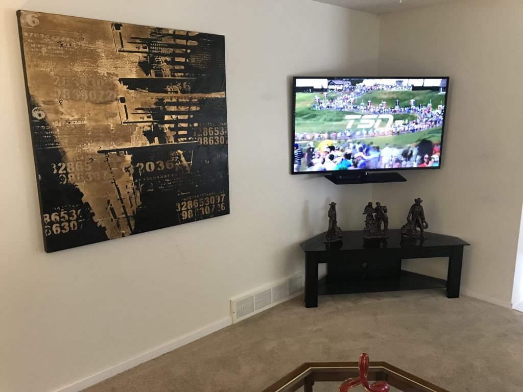 Living Room with 50 Inch TV, wifi and Cable