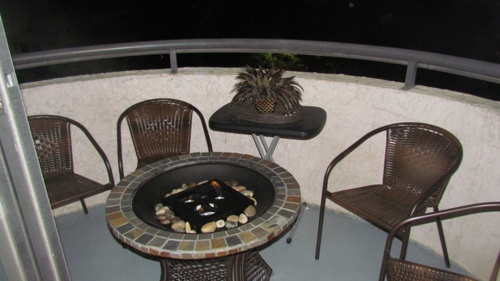 Outdoor Deck with Fireplace