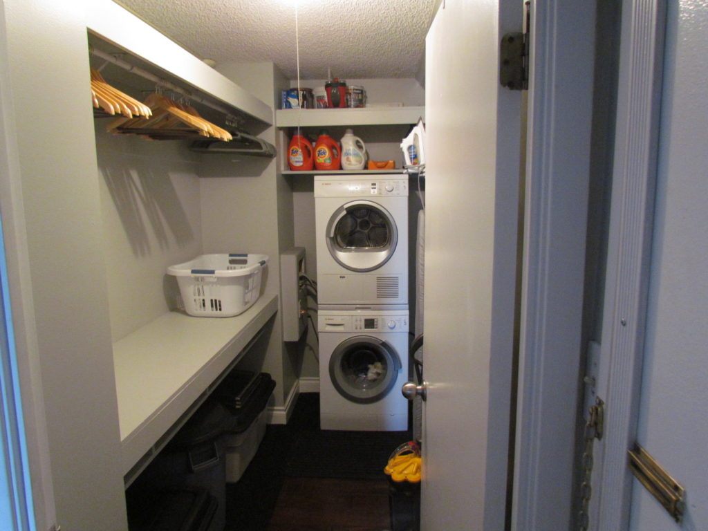 In Suite Laundry with Large Closet Space
